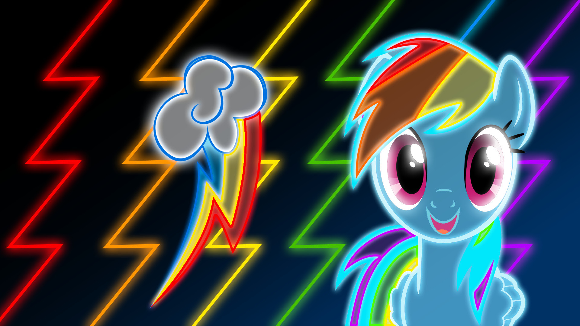 Rainbow Dash Neon Wallpaper 80 Images