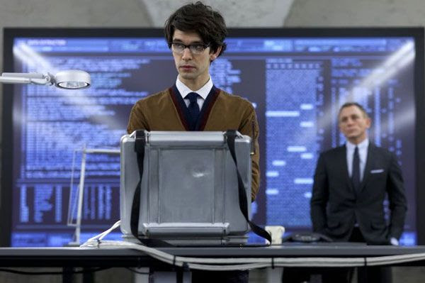Ben Whishaw plays Q in SKYFALL.
