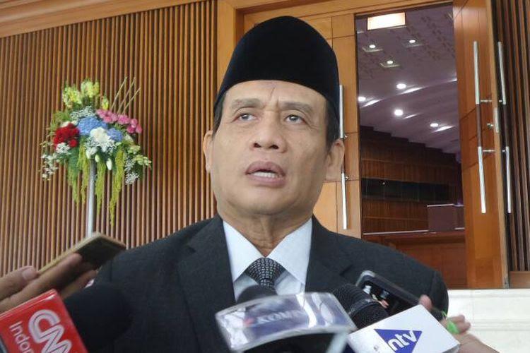 Anggota Komisi III DPR dari Fraksi Partai Gerindra, Muhammad Syafii di Kompleks Parlemen, Senayan, Jakarta, Selasa (6/6/2017).