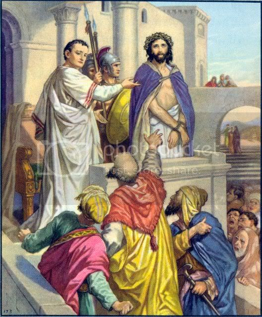 pilate jesus photo: Pilate presents Jesus saying Behold your king PilatepresentsJesussayingBeholdyourking.jpg