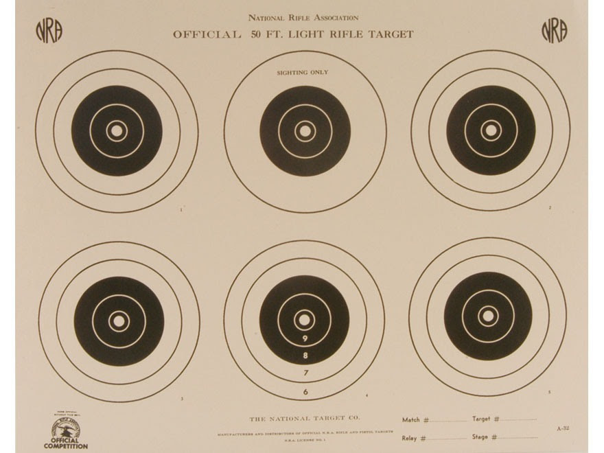 NRA Official Smallbore Rifle Targets A-17 50