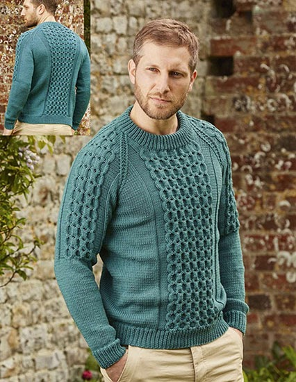 Craft Passions: Men's cabled sweater.# free # knitting ...