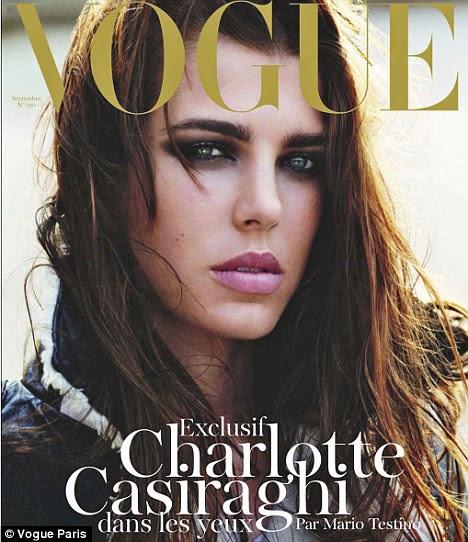 En Vogue: Miss Casiraghi, que é o quarto na linha sucessória do trono, na capa da Vogue Paris em 2010