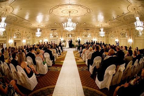 Crystal Ballroom wedding ceremony Brown Hotel Louisville