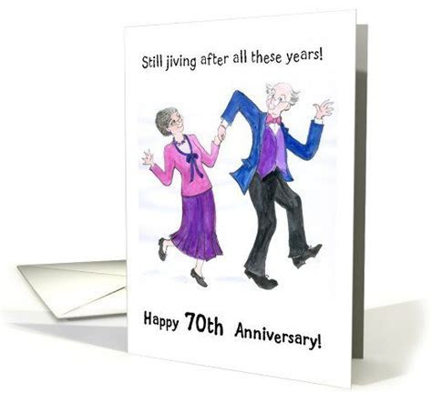 70th Wedding Anniversary Card   Dancing Couple card   The