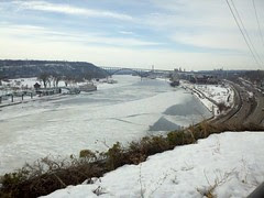 Mississippi River in downtown St. Paul.