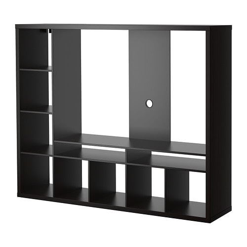 IKEA LAPPLAND TV storage unit Back panel is reinforced to hold a flat screen TV.