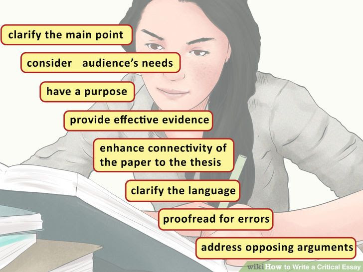 how to write a critical essay for college