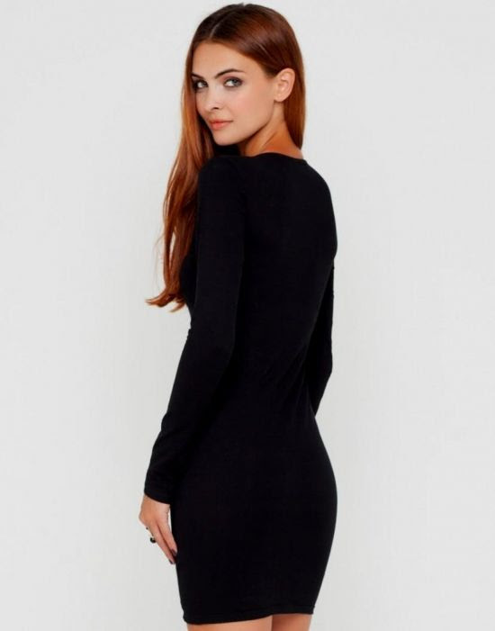Long bodycon 21 dress forever sleeve black valet stand