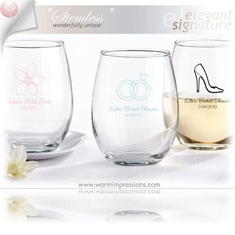 Personalized Stemless Wine Glass Favors Gifts   71% OFF
