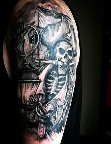 50 Pirate Tattoos For Men Arrr Ships And Eye Patches