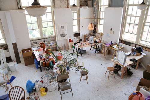 Ana Kras' art studio