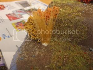 Push Tall Grass into Glue