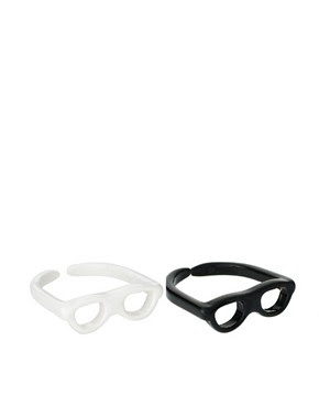 Image 1 of ASOS Pack of Two Adjustable Sunglasses Rings