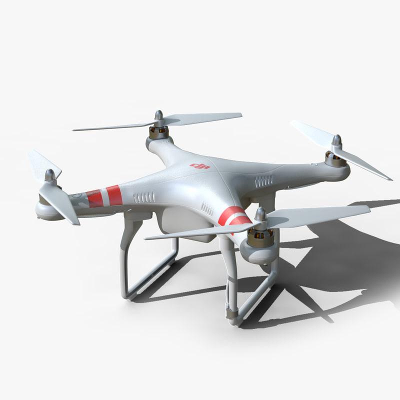 3d model of dji phantom 2 drone