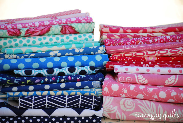 new baby quilt stack