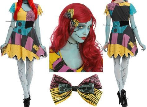 The Nightmare Before Christmas Sally Rag Doll Dress Wig