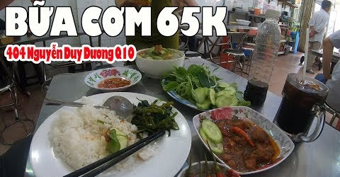 Đi ăn cơm Bình Dân buổi trưa 404 Nguyễn Duy Dương Q10 Sài Gòn