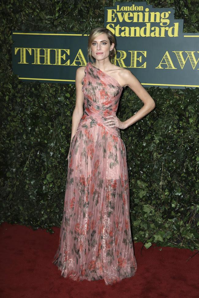 evening standard theatre awards 2017 red carpet celebrities Allison Williams