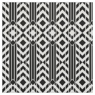 Fancy Black & White Chevron Stripes Fabric