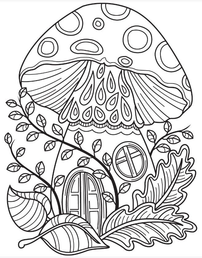 Mushroom House Coloring Page at GetColorings.com | Free ...