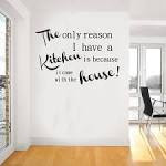 Elegant Words Wall Decor For The Kitchen Design With Wooden Floor ...