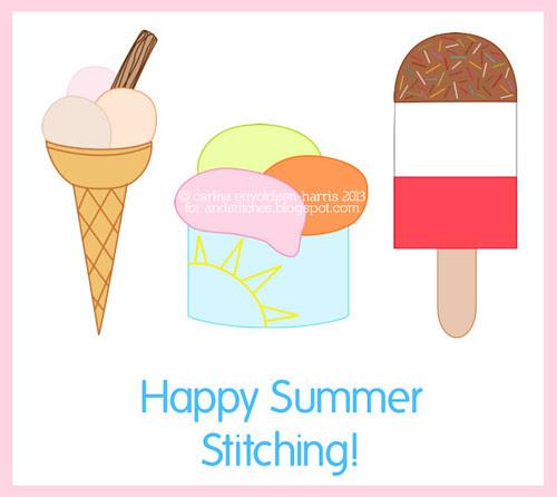 &Stitches Ice Cream patterns