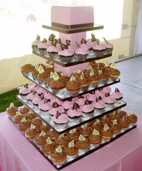 Cupcake Wedding Cake Designs, Cupcake Wedding Cake Design Ideas, Cupcake Wedding Cake Design Pictures