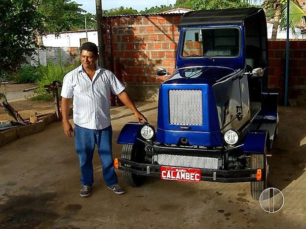 Edson diz que 'não tem dinheiro no mundo que pague o carro' (Foto: Reprodução/Inter TV Cabugi)