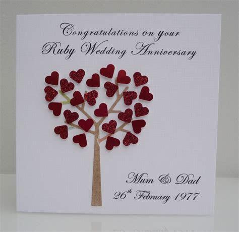 personalised ruby wedding anniversary card  years