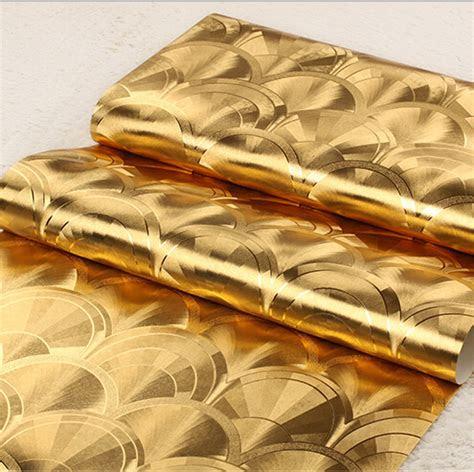 foil emas wallpaper beli murah foil emas wallpaper lots