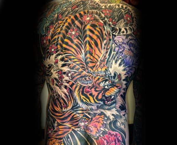 70 Japanese Tiger Tattoo Designs For Men Masculine Ideas