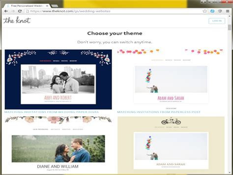 The best wedding website editors with free RSVP and Registry