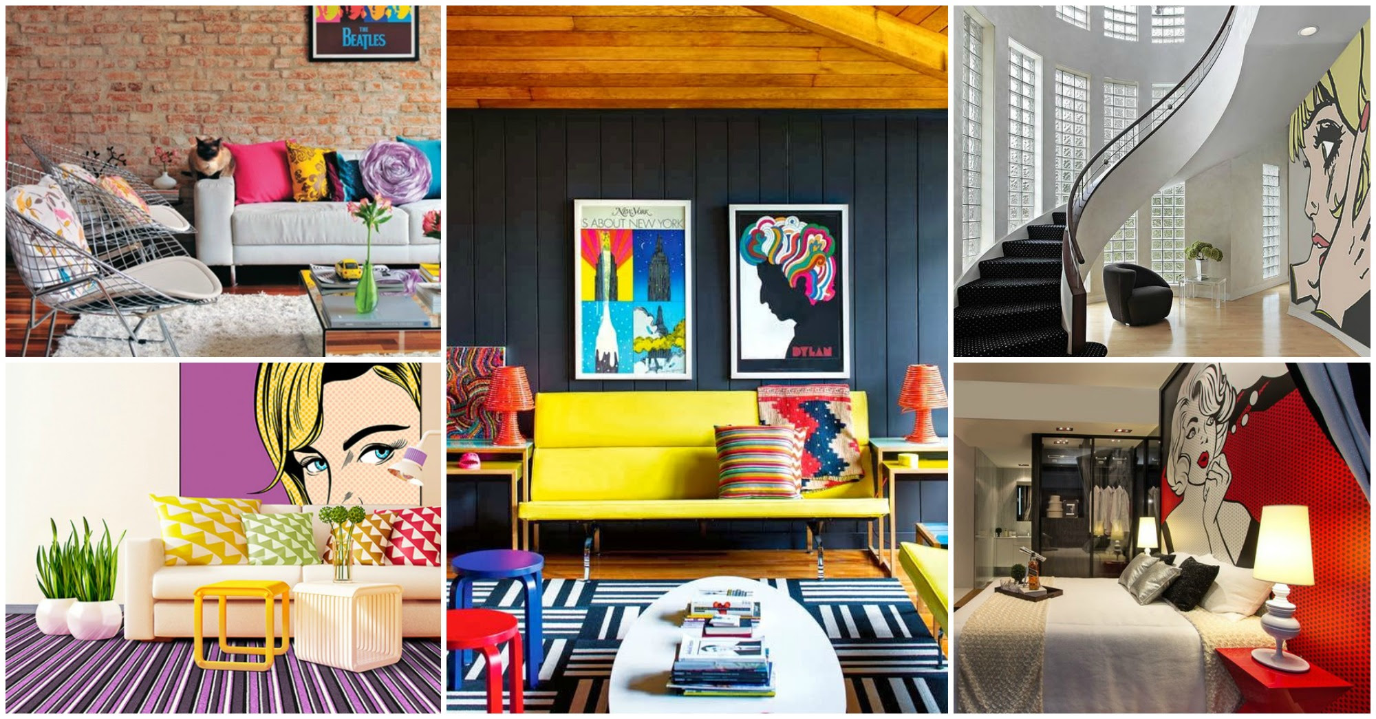 Fabulous Collection Of Pop Art Interior That Will Catch ...
