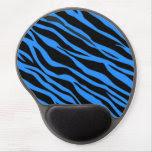 Cobalt Blue Zebra Striped Gel Mouse Pad