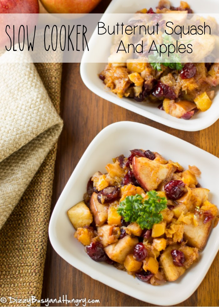 Slow Cooker Butternut Squash and Apples | Dizzy Busy and Hungry