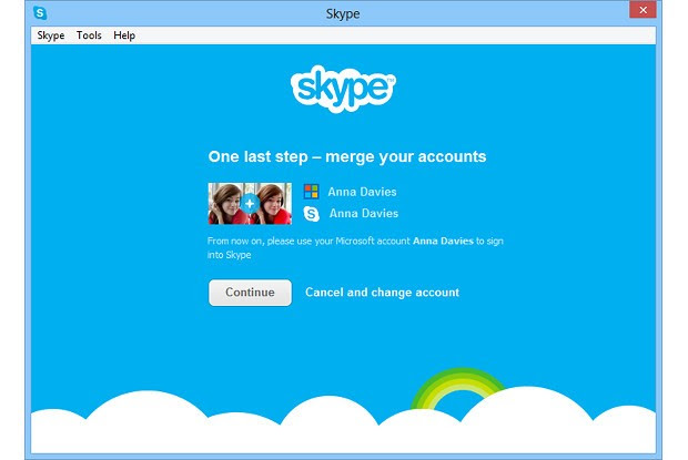 DNP Skype for Windows 8 adds Live Messenger to contacts