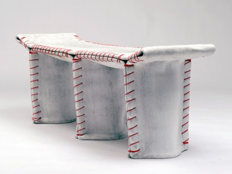 Industrial Concrete Sewn Furniture by Florian Schmid | DigsDigs