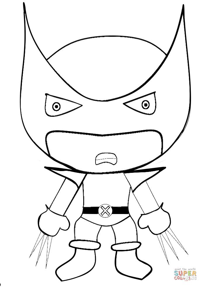 Dibujo De Wolverine De Dibujos Animados Para Colorear Dibujos Para