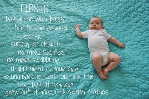 4 months firsts