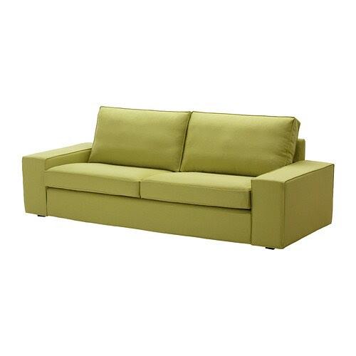 KIVIK Bezug 3er-Sofa - Dansbo gelbgrün - IKEA