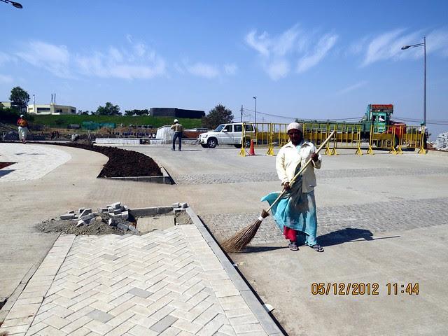 View point from Entrance island on 6 lane concrete road - Development in the 1st Year - Kolte-Patil Life Republic Marunji, Hinjewadi - Kasarsai Road, Pune 411057