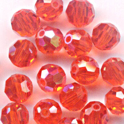 27750001319236 Swarovski Bead - 4 mm Faceted Round (5000) - Hyacinth AB (Pkg 18)