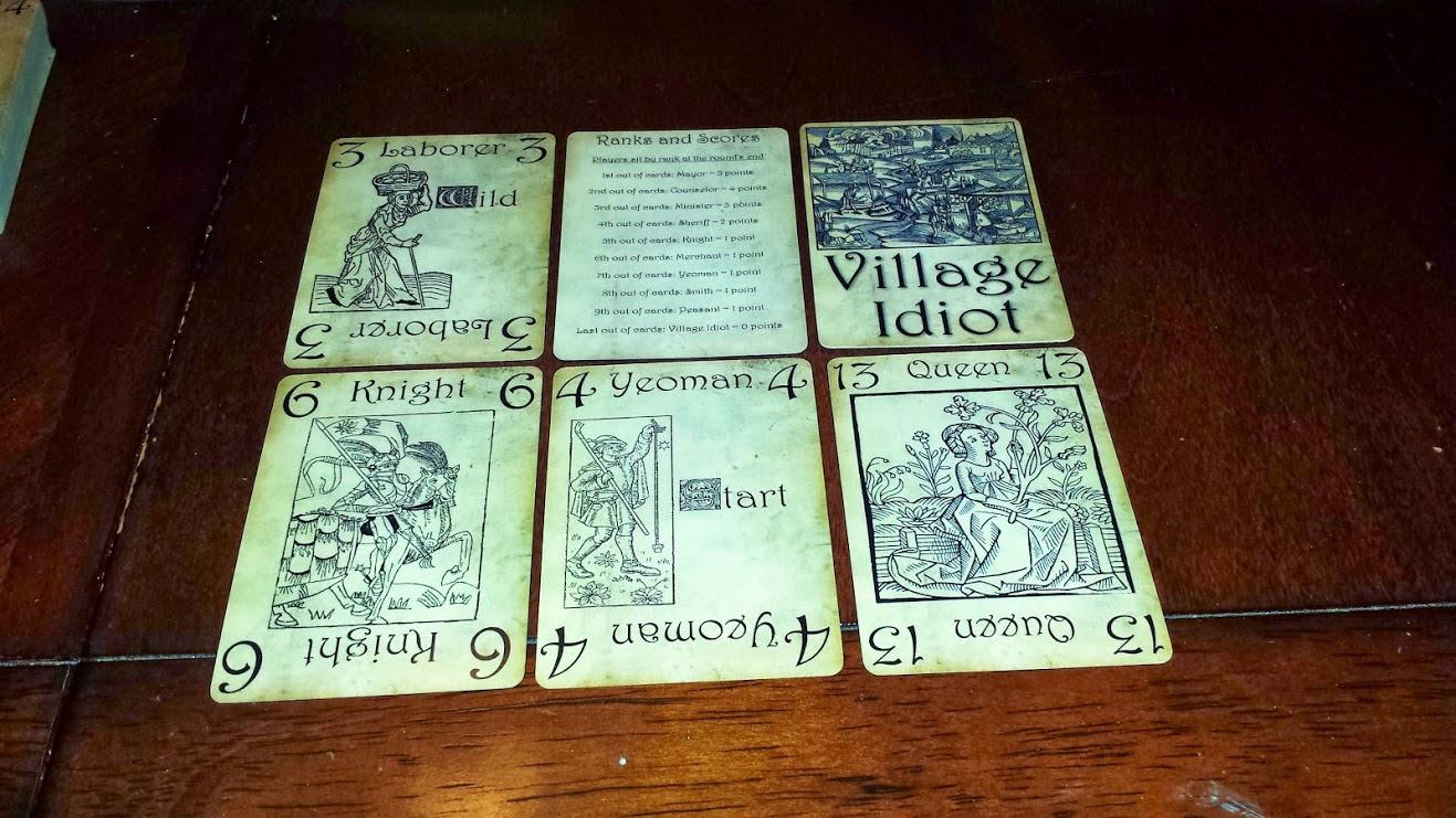 A few cards
