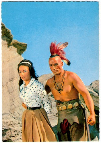 Karin Dor and Ricardo Rodriguez in Der Letzte Mohikaner