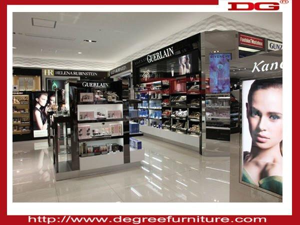 Fashionable cosmetics shop decoration interior design, View