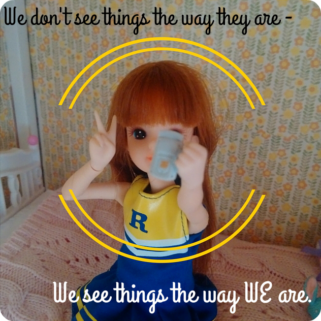 We don't see things the way they are. We see things the way WE are.
