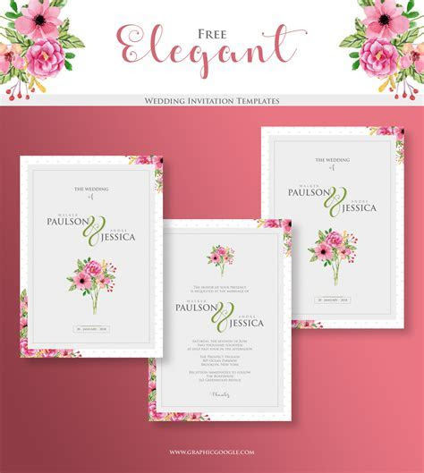 Elegant Wedding Free Invitation Templates   Engine Templates