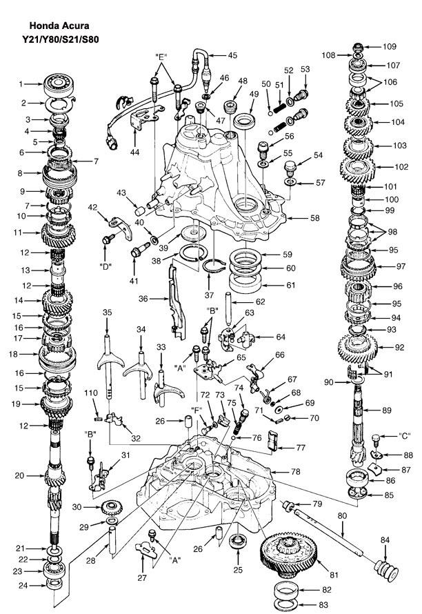 1997 Honda Accord Exhaust System Diagram