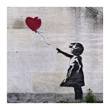 A3 Banksy Heart Balloon Print   OSNZ : Gifts for Home from